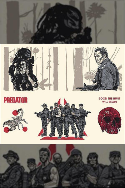 """PREDATOR"" (Ages 4 and Up Series 7) Uncut Sheet by New Flesh"
