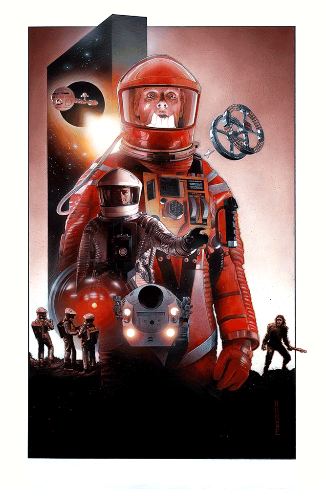 "First Contact: ""2001: A Space Odyssey"" Variant by Nick Runge"