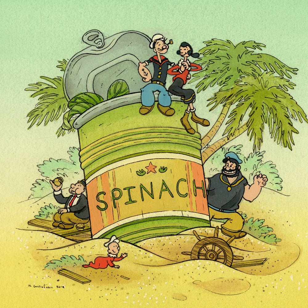 """Popeye and Friends"" by Nicole Gustafsson"