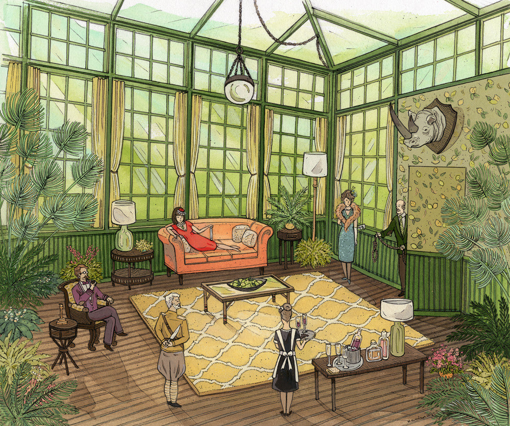 """In the Conservatory"" by Nicole Gustafsson $500.00 - SOLD OUT - Hero Complex Gallery"
