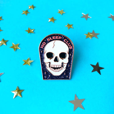 "203. ""No Sleep Club"" Pin by Paper Moon Collective"