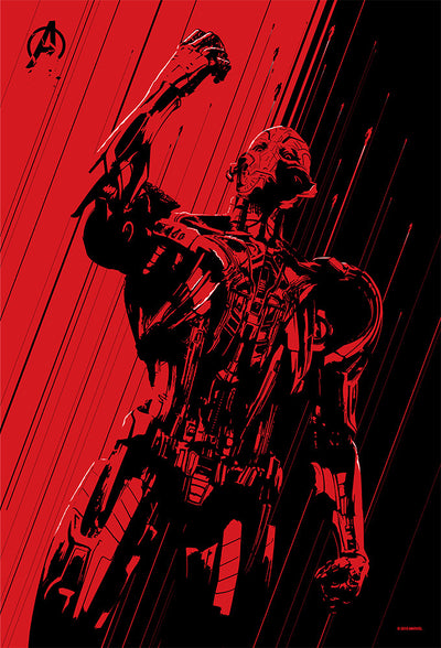 """Age of Ultron"" Red Foil by Oli Riches - Hero Complex Gallery  - 4"
