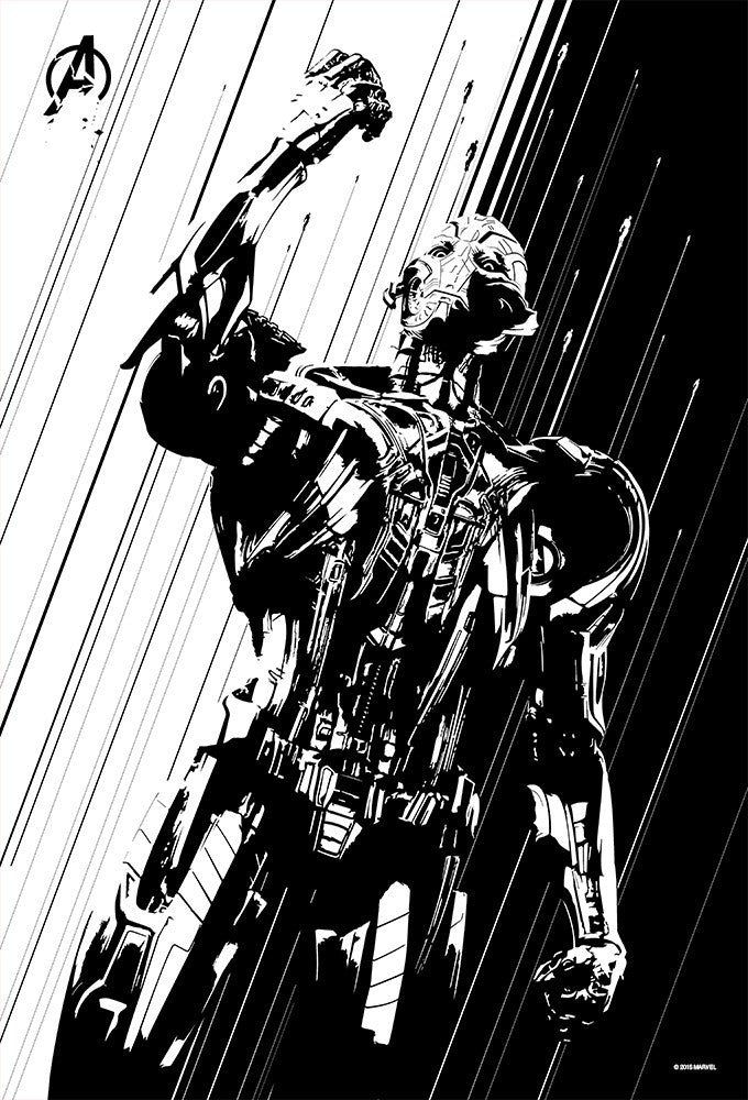"""Age of Ultron"" Silver Foil by Oli Riches - Hero Complex Gallery  - 5"