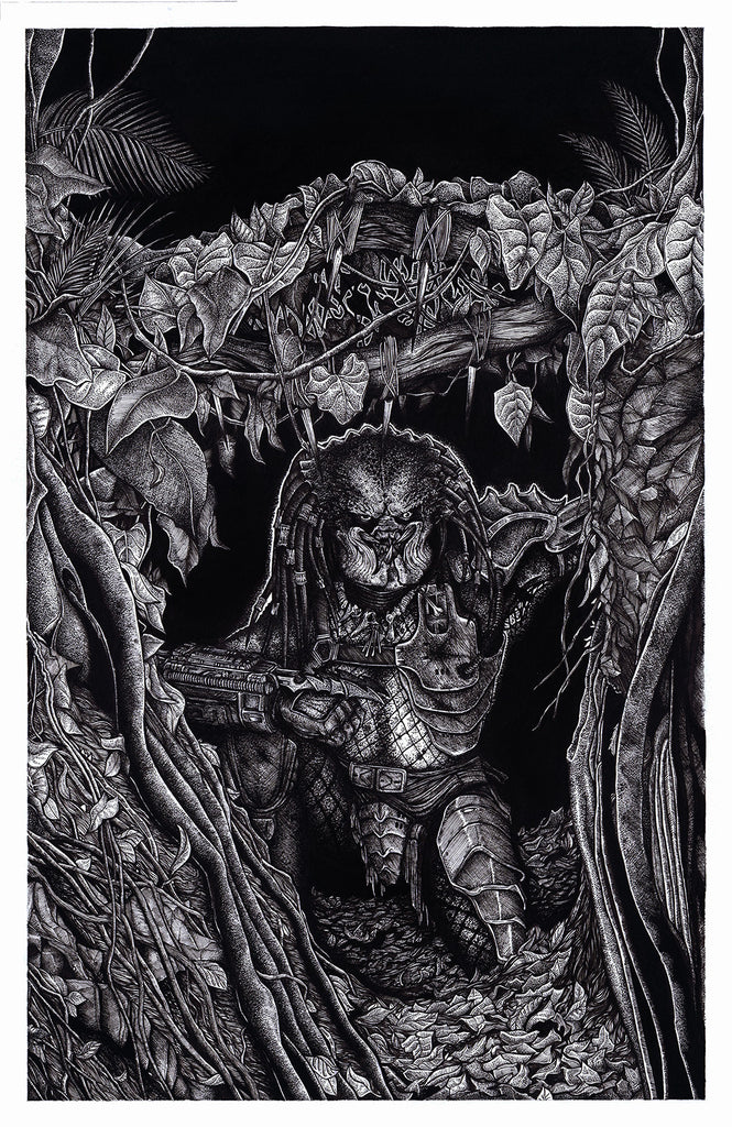 "A Tribute to Stan Winston: ""Predator"" Original by Liam Atkin"