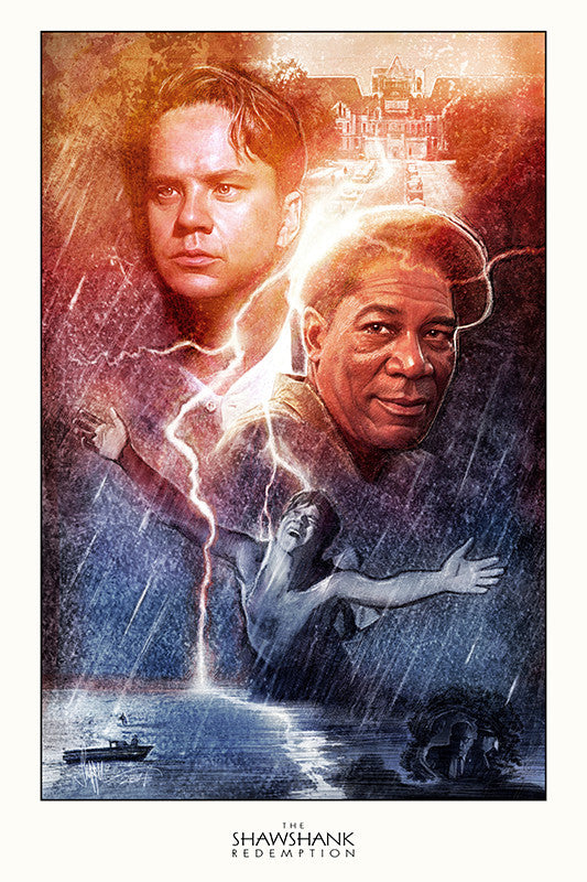 """The Shawshank Redemption"" Large by Paul Shipper"