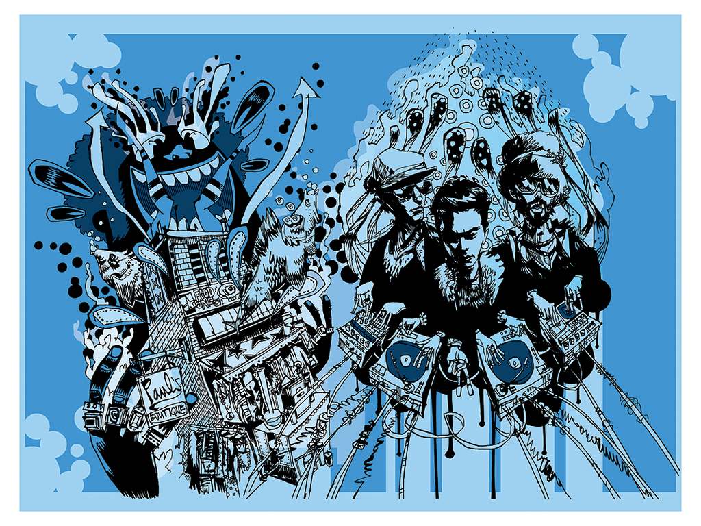 """Paul's Boutique"" by Jim Mahfood - Hero Complex Gallery  - 1"