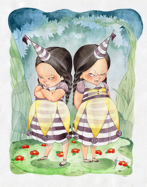 """Dee-ko & Dum-Ko"" Original by Peach MoMoKo - Hero Complex Gallery"