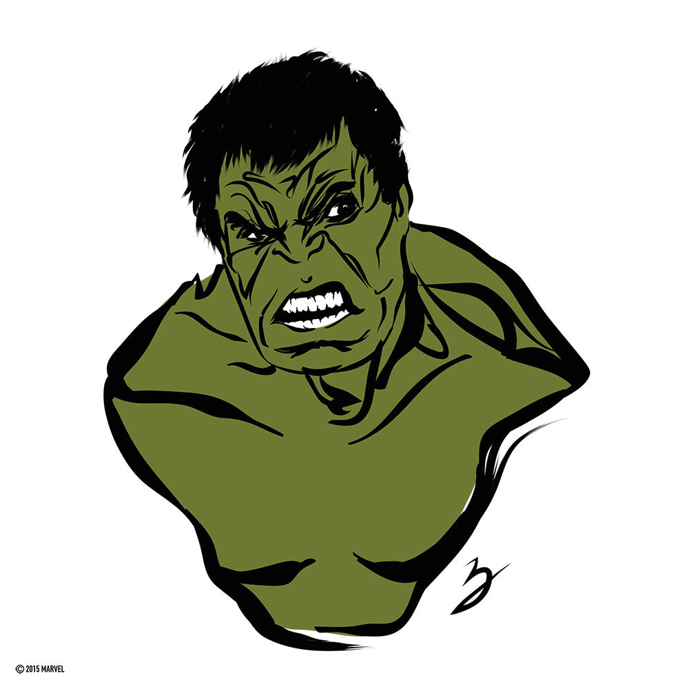 """Hulk Mad"" by Peter Breese - Hero Complex Gallery"