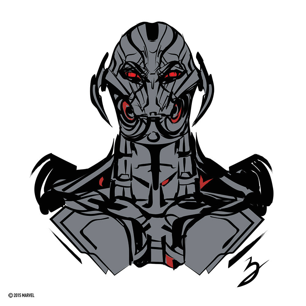 """Ultron's Fury"" by Peter Breese - Hero Complex Gallery"