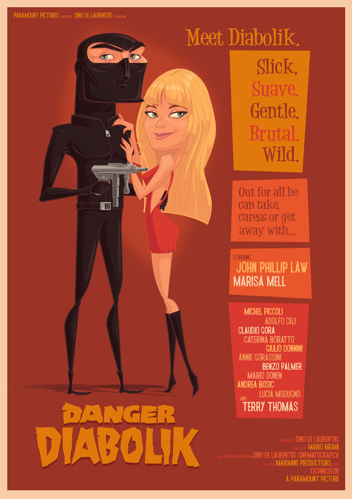 """Diabolik!"" Variant by James Gilleard - Hero Complex Gallery"