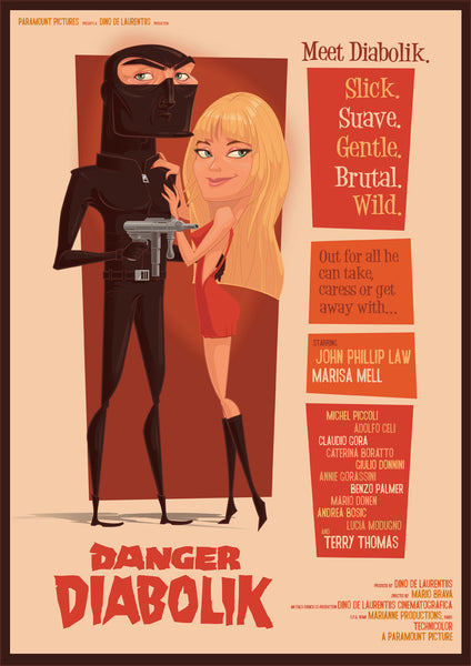 """Diabolik!"" by James Gilleard - Hero Complex Gallery"