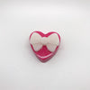 "055. ""Pink Heart with White Bow"" Pin by Dare to Dream Flair"