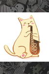 "675. ""Saxophone Cat"" Pin by Natelle"