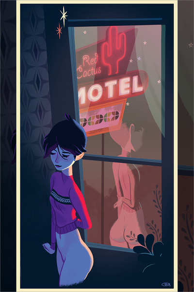 """Red Cactus Motel"" by Glen Brogan"
