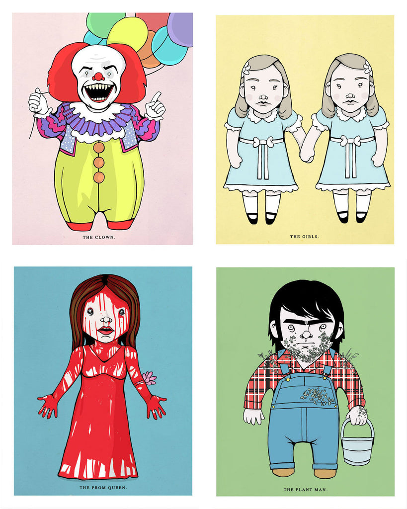 """Stephen King Print Pack: IT, Creepshow, The Shining, Carrie"" Set by Isaac Bidwell - Hero Complex Gallery  - 1"