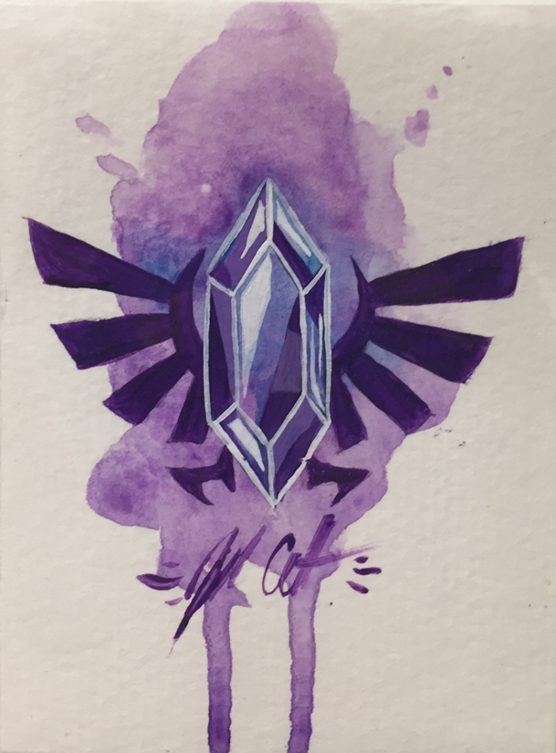 """Purple Rupee"" by Jill Colbert-Manfish Inc. - Hero Complex Gallery"