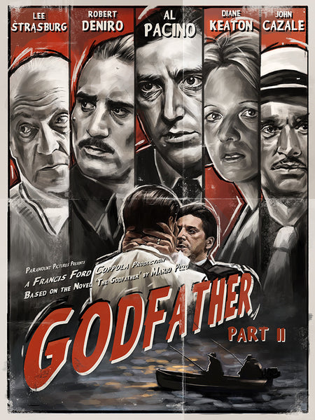 """The Godfather: Part II"" by Robert Bruno - Hero Complex Gallery"