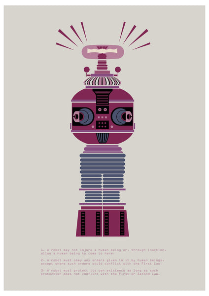 """The Laws of Robotics 3"" by James Gilleard $30.00 - Hero Complex Gallery"