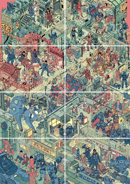 """The Raid"" 8-Piece Set by Josan Gonzalez & Laurie Greasley - Hero Complex Gallery"