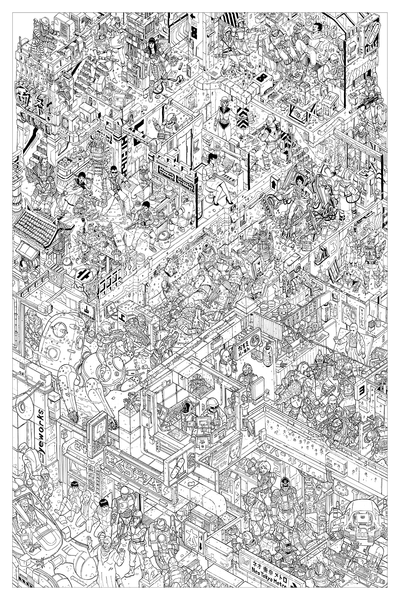 """The Raid"" Key Line Variant by Josan Gonzalez & Laurie Greasley - Hero Complex Gallery"