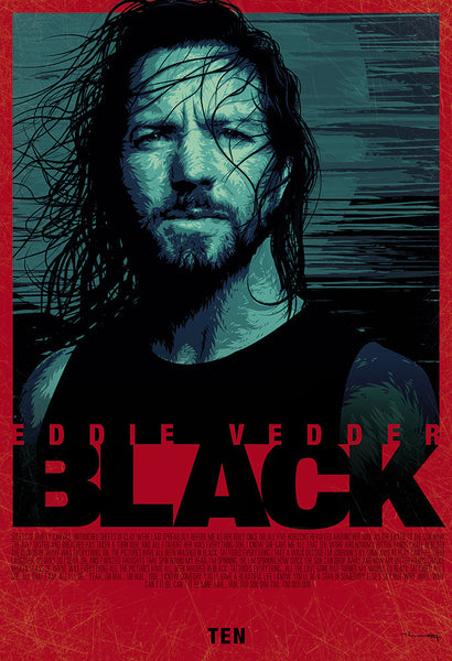 """EDDIE VEDDER: BLACK"" by Raj Khatri - Hero Complex Gallery"