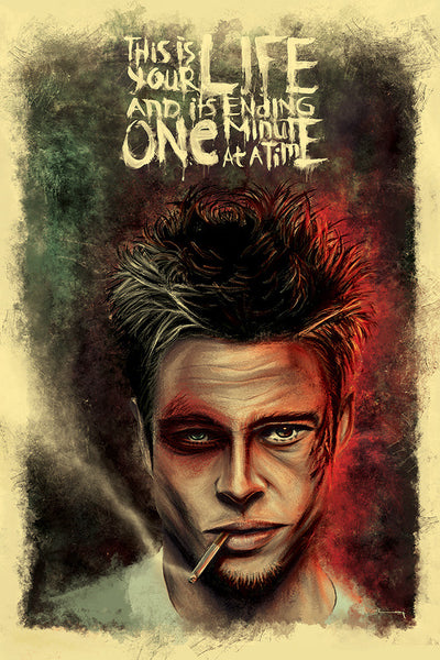 """FIGHT CLUB: LIFE"" Large Variant by Raj Khatri - Hero Complex Gallery"