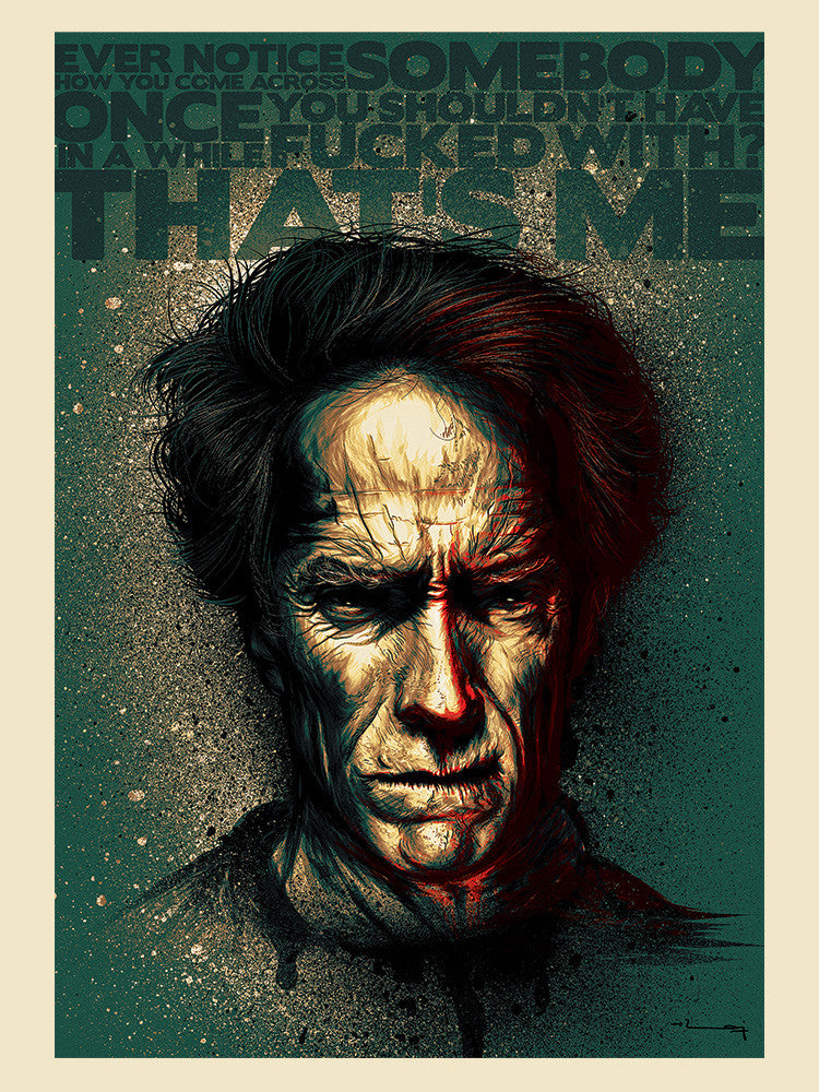 """GRANTARINO: CLINT EASTWOOD"" by Raj Khatri - Hero Complex Gallery"