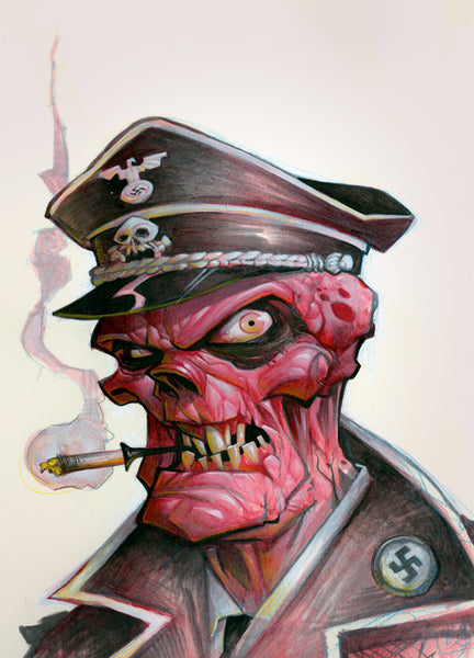 """Red Skull"" by Brett Parson - Hero Complex Gallery"