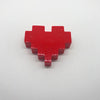 "060. ""Red 8-Bit Heart"" Pin by Dare to Dream Flair"