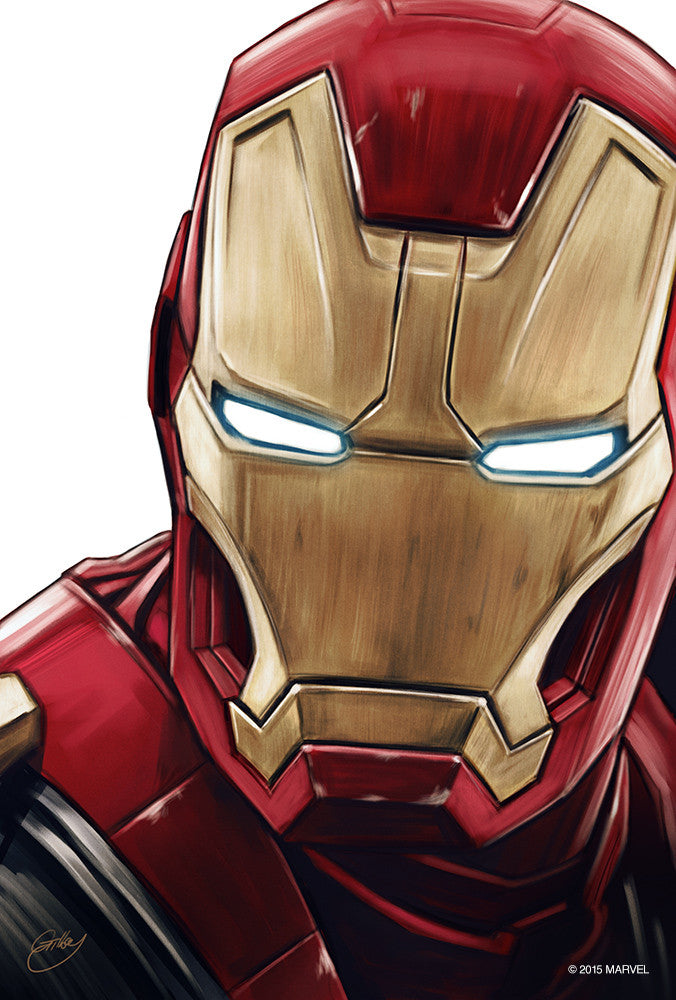 """Iron Man Portrait"" by Sam Gilbey - Hero Complex Gallery"