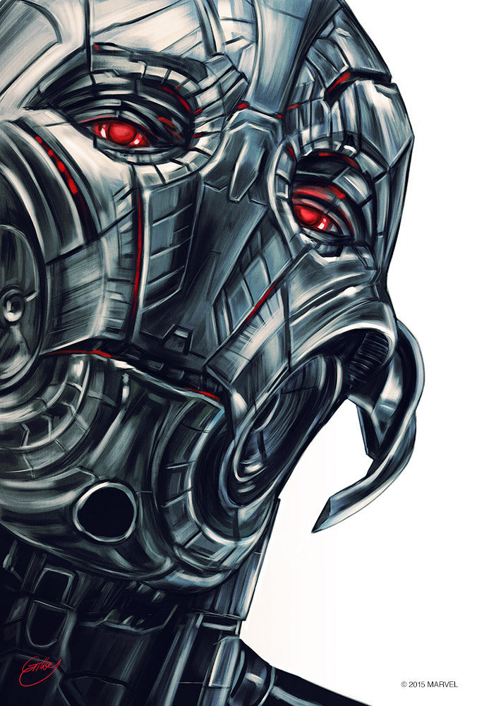 """Ultron Portrait"" by Sam Gilbey - Hero Complex Gallery"