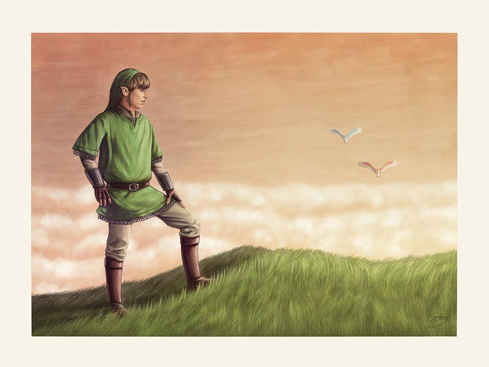 """Link Skyward"" by Sam Gilbey - Hero Complex Gallery"
