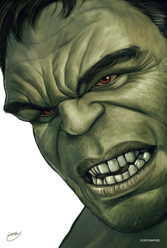 """Hulk Portrait"" by Sam Gilbey - Hero Complex Gallery"