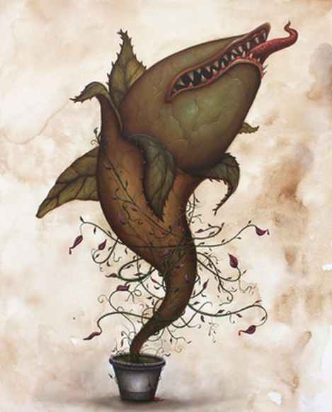 """Little Shark of Horrors"" by Graham Curran - Hero Complex Gallery"