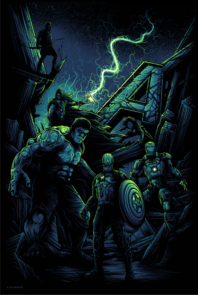 """Avengers Assemble"" Foil Variant by Dan Mumford - Hero Complex Gallery"