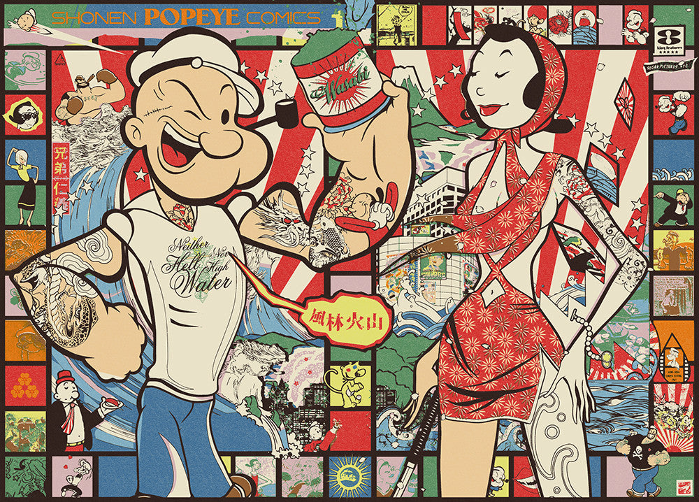 """Popeye: Land of the Rising Sailor"" Comic Strip by Sean Danconia - Hero Complex Gallery"