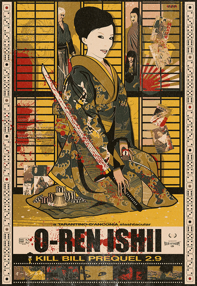 """O-Ren Ishi"" Silk Scream Edition by Sean Danconia - Hero Complex Gallery"