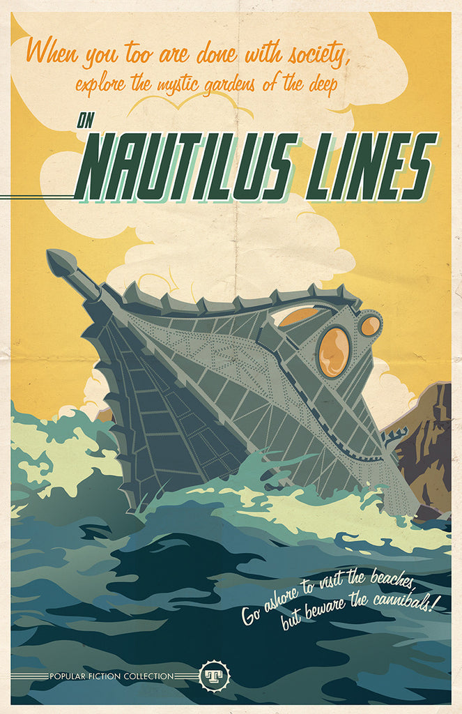 """Nautilus Travel Lines"" by Sean Thornton - Hero Complex Gallery"