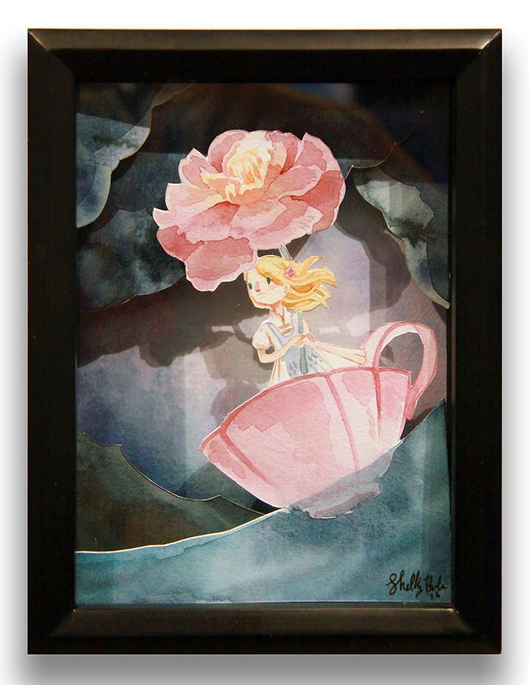 """Alice in the Sea of Tears"" Original Shadow Box by Shelley Couvillion - Hero Complex Gallery"