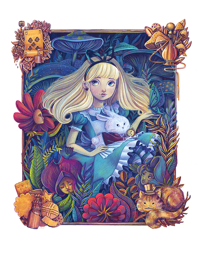 """Alice in the Garden"" Original by Siames Escalante - Hero Complex Gallery  - 3"