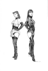 """Silk Spectre I & Silk Spectre II"" Original by Chris Skinner"