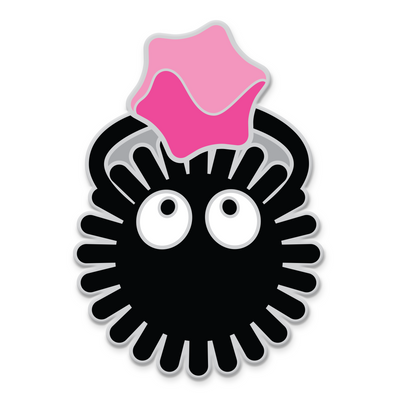 "105. ""Soot Sprite"" Pin by Joshua Budich"