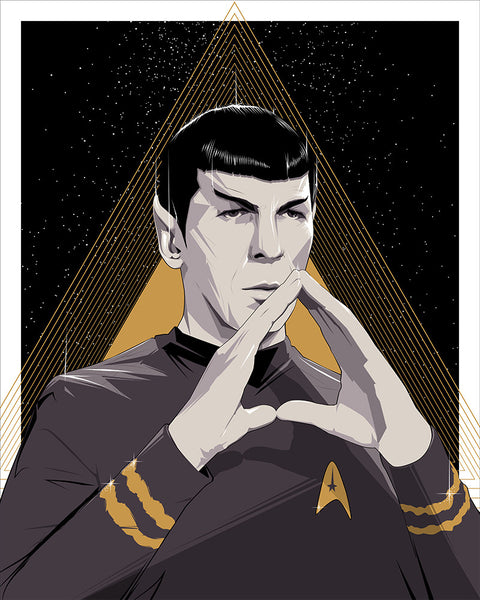 Spock Foil Variant by Craig Drake - Hero Complex Gallery