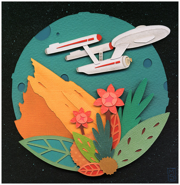 """NCC-1701"" Original by Meghan Stratman $400.00 - SOLD OUT - Hero Complex Gallery"