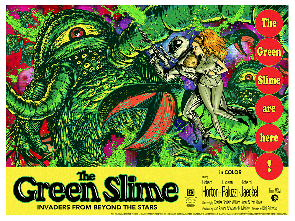 """The Green Slime"" by Stephen Sandoval - Hero Complex Gallery"