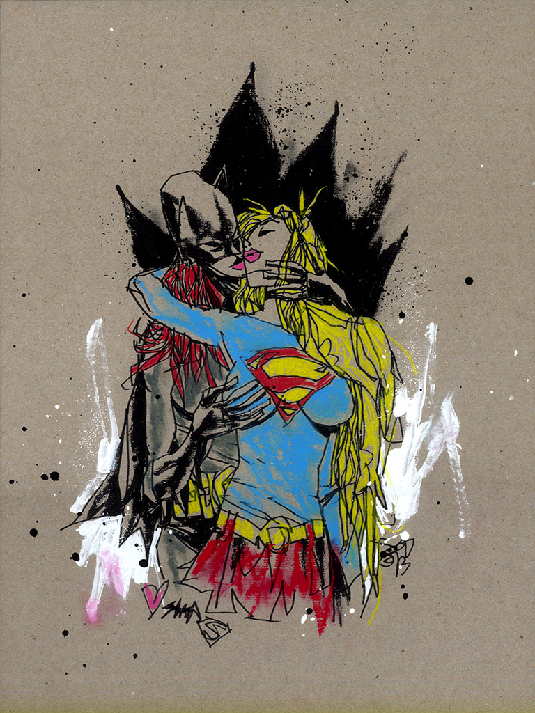 """Super Sapphic Erotic"" Framed by Jim Mahfood - Hero Complex Gallery  - 1"