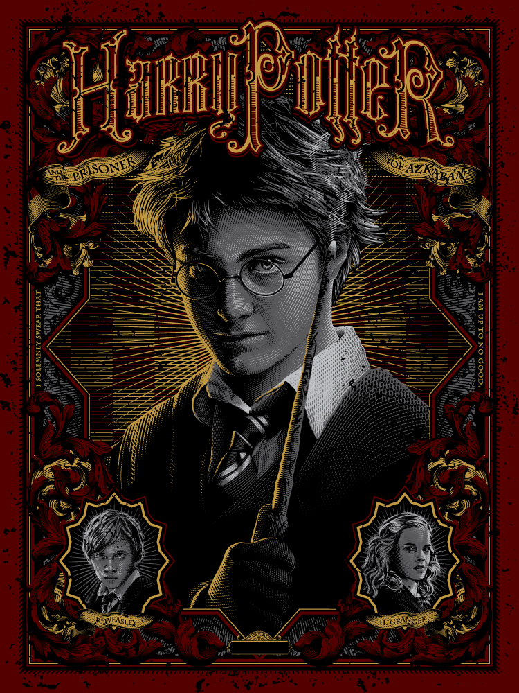 """Harry Potter and the Prisoner of Azkaban"" by Tracie Ching - Hero Complex Gallery"