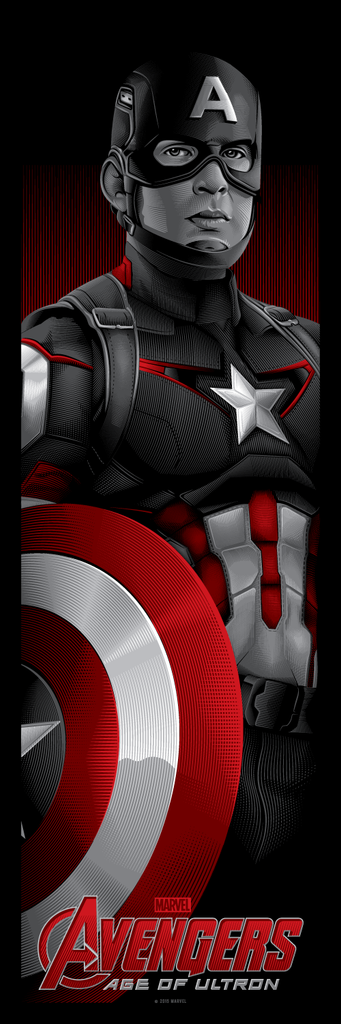 """Avengers: Matched Numbered Set of 3"" by Tracie Ching - Hero Complex Gallery  - 3"