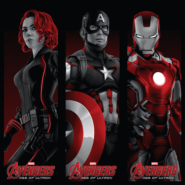 """Avengers: Matched Numbered Set of 3"" by Tracie Ching - Hero Complex Gallery  - 1"