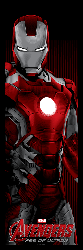 """Avengers: Matched Numbered Set of 3"" by Tracie Ching - Hero Complex Gallery  - 4"